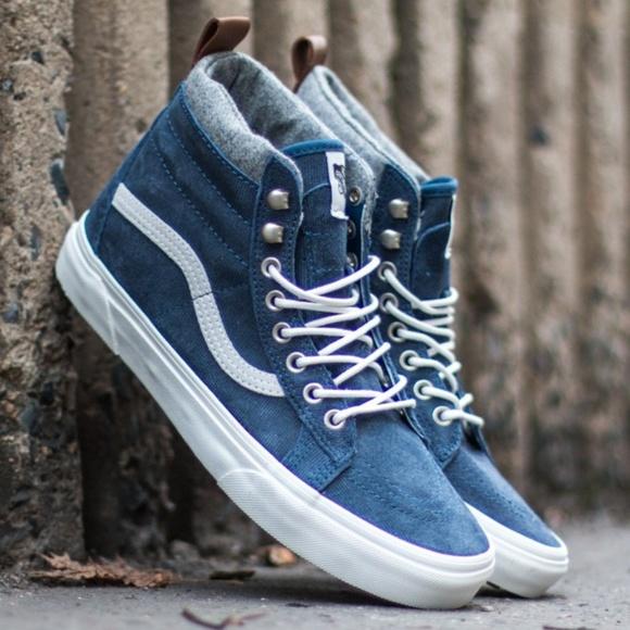 3969c86120 VANS 🆕 SK8-Hi MTE Skate Demin Suede Blue Shoes